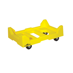 "E-CRATE® DOLLY W/ 3.5"" DLX CASTER- YELLOW"