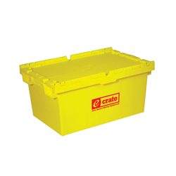 E-CRATE® HEAVY DUTY PLASTIC - YELLOW